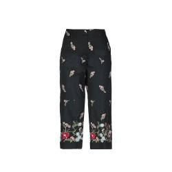 Three quarter pants with décor/silk